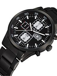 SKONE Men's Sport Watch Fashion Watch Quartz Calendar Water Resistant / Water Proof Alloy Band Black Orange red White