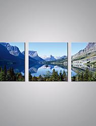 Stretched Canvas Prints Landscape  Picture Print Blue Mountain Contemporary Art for Livingroom Decoration