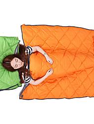 Schlafsack Rechteckiger Schlafsack Einzelbett(150 x 200 cm) 10 Hohlbaumwolle73 Camping Reisen Draußen DrinnenWasserdicht Atmungsaktivität