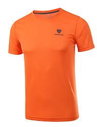 Mais os t-shirt do algodão da forma dos homens do tamanho 4xl curtem camisas redondas secas rápidas da luva