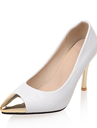 Women's Heels Spring Summer Club Shoes Formal Shoes Leatherette Wedding Party & Evening Dress Stiletto Heel Metallic toe