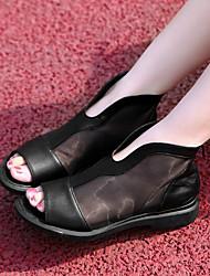 Damen-Loafers & Slip-Ons-Lässig-PUKomfort-Schwarz