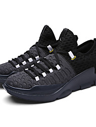 Men's Basketball Shoes Fashion Light Mesh Fly Woven Breathable Sneakers Plus Size 39-45