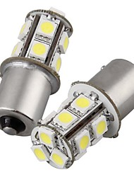 2pcs 1156 13 * 5050smd führte Auto-Glühlampe warmes Licht dc12v