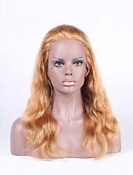 Beata cabelos loiros loiros onda laço frontal perucas brasileira remy cabelos loiros natural
