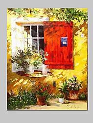 Pintada a mano Naturaleza muerta Horizontal,Mediterráneo Estilo europeo Un Panel Lienzos Pintura al óleo pintada a colgar For Decoración