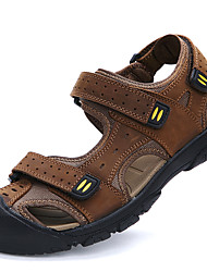 Men's Sandals Spring Summer Fall Comfort Cowhide Outdoor Office & Career Dress Casual Water Shoes