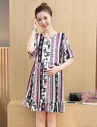 Maternity Summer Wear Fashionable Sweet  Chinese Wind Restoring Ancient Ways Of Printing  Leisure Pregnant Women Dress