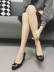 Черный-Для женщин-Повседневный-РезинаС Т-образной перепонкой-Ботинки