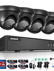 Annke® 1080p vga hdmi 8ch 4pcs 720p hd 4in1 p2p vídeo ip rede cctv outdoor indoor câmera noite vison