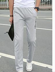 Men's Low Rise Micro-elastic Sweatpants Pants,Simple Loose Solid