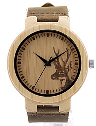 BOBO BIRD Men's Fashion Watch Wristwatch Unique Creative Cool Casual Genuine Leather Band Vintage Wooden Watches Japanese Quartz Wood Watch
