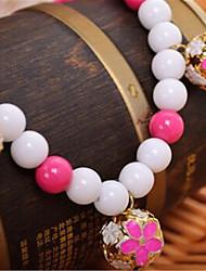 Собака Ожерелья Одежда для собак Очаровательный Жемчуг Лиловый Желтый Пурпурный Синий