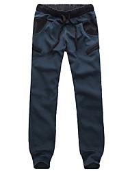 Masculino Chique e Moderno Simples Cintura Média Com Elástico Chinos Calças Esportivas Calças,Solto Letra
