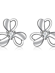 Women's Stud Earrings Drop Earrings Imitation Diamond Floral Silver Plated Flower Jewelry ForWedding Party Special Occasion Halloween