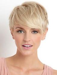 encantador elegante recta corta peluca de cabello humano mujer de moda del cabello