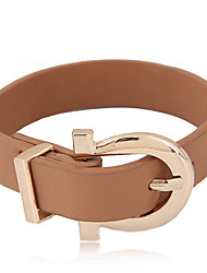 Women's Leather Bracelet Fashion Leather Alloy Belt Buckle Jewelry For Party 1 pc