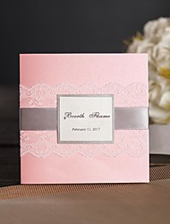 Vintage Pink Lace Wedding Invitations With RSVP & Envelope Custom Engagement Birthday Party Invitations Greeting Cards SW860