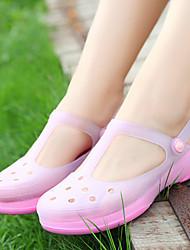 Feminino-Sandálias-Buraco Shoes-Rasteiro--Silicone-Casual