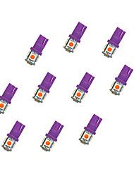 10Pcs T10 5*5050 SMD LED Car Light Bulb Purple Light DC12V
