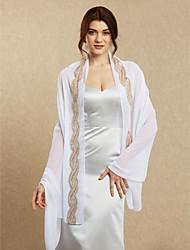 Femme enveloppe châles mousseline de soie mariage / soir sequin