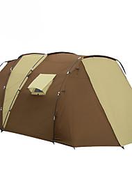 5-8 Personen Zelt Einzeln Familien Zelte Zwei Zimmer Camping Zelt 2000-3000 mm GlasfaserFeuchtigkeitsundurchlässig Wasserdicht