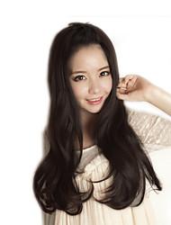 Japan and South Korea fashion life black natural straight hair natural song high temperature wire wig