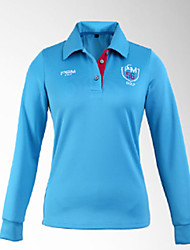 Women's Long Sleeve Golf Tops Breathable Sweat-wicking Comfortable Golf Leisure Sports