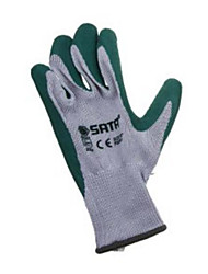 Sata Gloves 9 (Palm Dip) Latex Glove Industrial Protective Gloves.