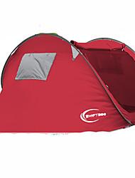 3-4 Personen Zelt Einzeln Automatisches Zelt Einzimmer Camping Zelt 1500-2000 mm Kohlefaser OxfordFeuchtigkeitsundurchlässig Wasserdicht
