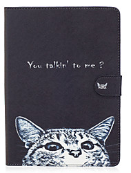 For Apple iPad Pro 9.7'' iPad Air 2 iPad Air iPad 4 3 2 Case Cover Cat Pattern Painted Card Stent Wallet PU Skin Material Flat Protective Shell