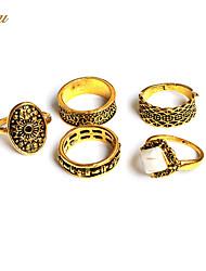 Couple Rings Ring Midi Rings JewelryBasic Circular Euramerican Handmade Vintage Punk Hip-Hop Personalized Rock Statement Jewelry Classic