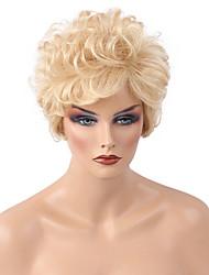 Pelo caliente de moda diy de la mujer de la peluca del pelo humano del pelo rizado del cortocircuito de la venta