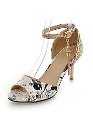 Damen-Sandalen-Kleid Lässig-Kunstleder-Stöckelabsatz-Komfort-