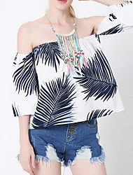 Women's Beach Holiday Sexy Cute Street chic Summer Tank Top,Solid Halter Sleeveless Polyester