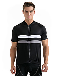 Cycling Jersey Unisex Short Sleeve Bike Sweatshirt Jersey Tops Breathable Back Pocket Sweat-wicking Polyester Classic SummerRacing