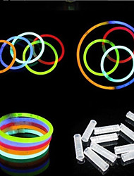 100 Pcs Glow Sticks Bracelets Necklaces Party Fluorescent Neon Colors Xmas Party Wedding Decal Decoration