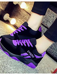 Женская спортивная обувь весна комфорт пу случайные фуксия фиолетовый черный
