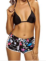 Bandeau Bikini,Color Block Polyester