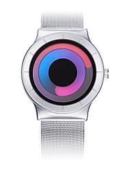 Masculino Relógio de Moda Relogio digital Chinês Quartzo PU Banda Preta Branco