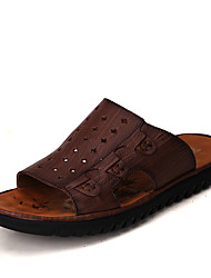 Men's Sandals Summer Comfort Cowhide Outdoor Casual