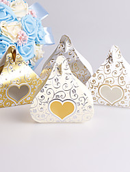 25pcs Love Heart Kiss Chocolates Candy Box Wedding Box Gilding And Emboss Lace Wedding Favors and Gifts Box Wedding Decoration Party Supplies