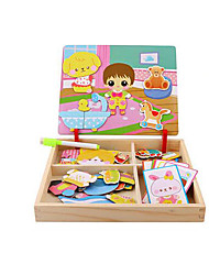 Jigsaw Puzzles DIY KIT Jigsaw Puzzle Logic & Puzzle Toys Building Blocks DIY Toys Square 1 Paper Wood Leisure Hobby