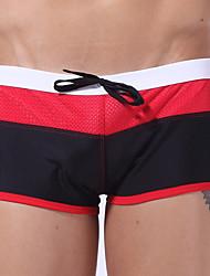Męskie Dół od bikini Sznurowany Na ramiączkach Nylon Spandeks Wielokolorowa