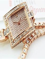 Damen Armband-Uhr Quartz Legierung Band Gold