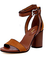 Women's Shoes Libo New Style Hot Sale Party / Wedding Sexy Comfort Fashion Chunky Heel Sandals Black / Brown