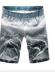 Homme simple Taille Normale Micro-élastique Short Pantalon,Ample Imprimé