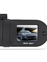 Mini 0807 1296p carro dvr gravador de vídeo digital - preto