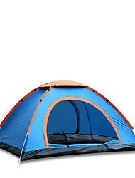 3-4 persons Automatic Tent One Room Camping TentHiking Camping-Blue