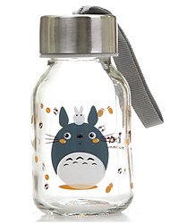 145ml Mini Convenient Travel Glass Cartoon Water Bottle